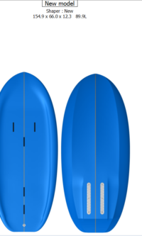 Ray 5'1″ x 26″ x 4.9″ / 90 Litres