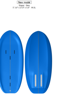 Ray 5'3″ x 27″ x 5″ / 100 Litres